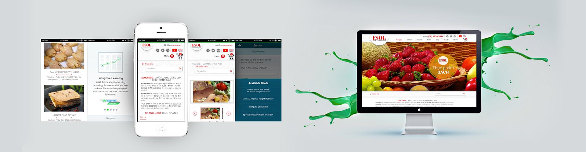 Thiết kế website thực phẩm ESOL
