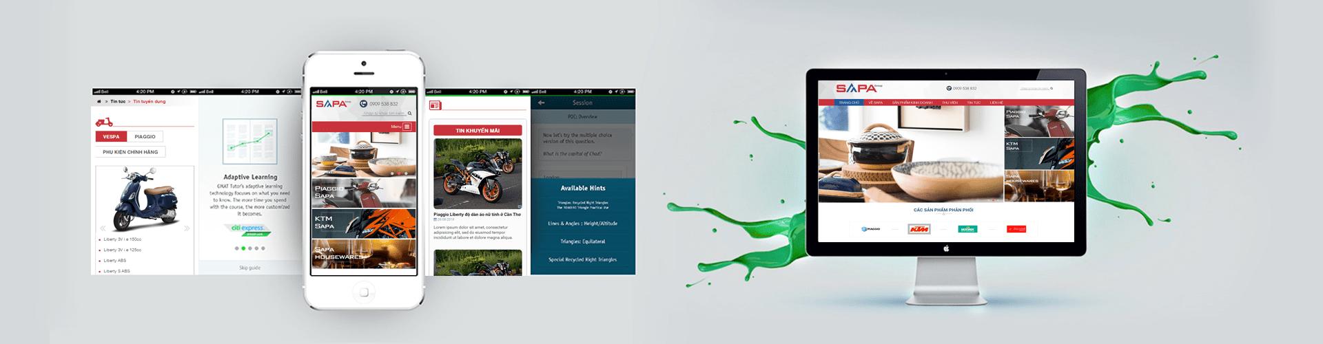 Thiết kế website thương mại điện tử SAPA