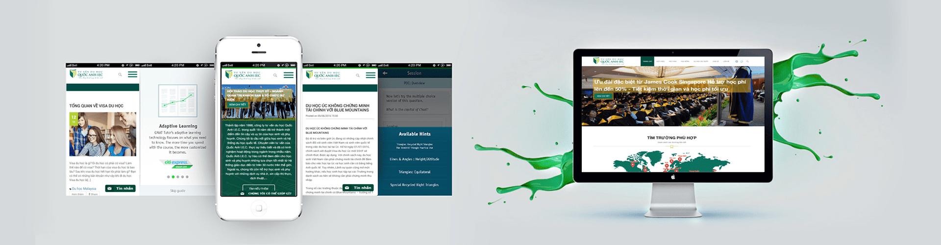 Thiết kế website du học QUỐC ANH IEC