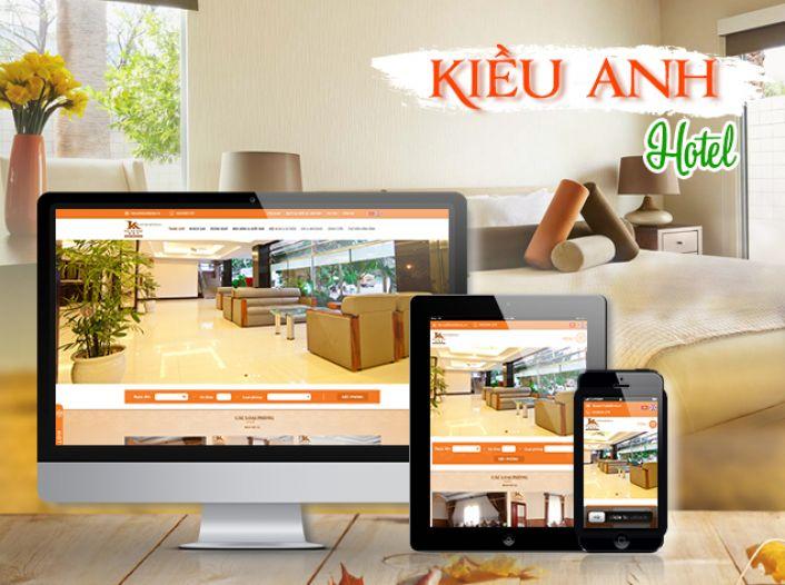 Thiết kế website - Kiều Anh Hotel