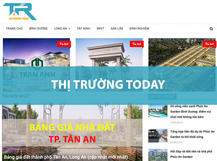Thiết kế website - Thị Trường Today